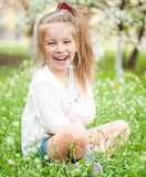 Adorable little girl on the meadow Stock Photography