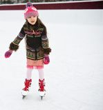 Adorable Little Girl On The Ice Rink Stock Images