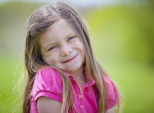 Adorable little girl outdoor portrait Royalty Free Stock Images