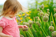 Adorable little girl outdoors Royalty Free Stock Photo