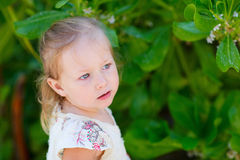Adorable little girl outdoors Royalty Free Stock Photography