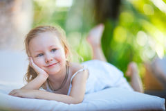 Adorable little girl outdoors Royalty Free Stock Photos