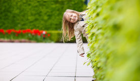 Adorable little girl outdoors Stock Photo
