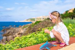 Adorable little girl outdoors during summer Royalty Free Stock Photos