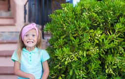 Adorable little girl outdoors during summer Royalty Free Stock Image