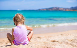 Adorable little girl outdoors during summer Royalty Free Stock Photo