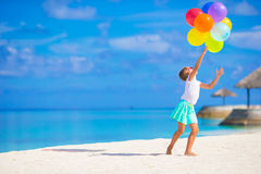 Free Adorable Little Girl Playing With Balloons At The Stock Photos - 53890213