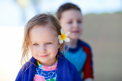 Adorable little girl portrait Stock Photos