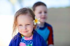 Adorable little girl portrait Stock Photos