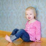 Adorable little girl portrait at home Royalty Free Stock Images