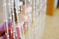 Adorable little girl portrait indoors Royalty Free Stock Photography