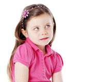 Adorable little girl portrait isolated on white Royalty Free Stock Photos
