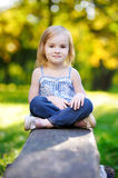 Adorable little girl portrait outdoors Stock Photography
