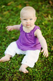 Adorable little girl portrait outdoors Royalty Free Stock Photography