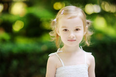 Adorable little girl portrait outdoors Royalty Free Stock Photo