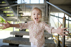 Adorable little girl portrait outdoors Stock Images
