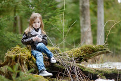 Adorable little girl portrait outdoors Stock Photo