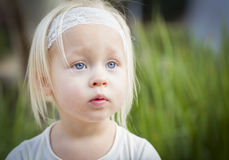 Adorable Little Girl Portrait Outside Royalty Free Stock Images