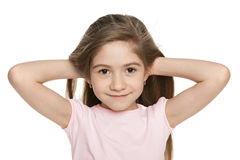 An adorable little girl stock image