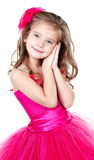 Adorable little girl in princess dress isolated Royalty Free Stock Images