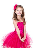 Adorable little girl in princess dress isolated Royalty Free Stock Photos