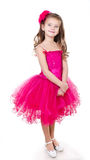 Adorable little girl in princess dress isolated Stock Image