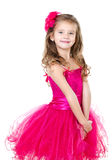 Adorable little girl in princess dress isolated Royalty Free Stock Photography
