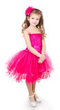 Adorable little girl in princess dress isolated Royalty Free Stock Image