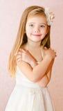 Adorable little girl in princess dress Stock Photos