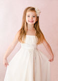 Adorable little girl in princess dress Stock Images