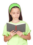 Adorable little girl reading a book Royalty Free Stock Photo