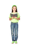 Adorable little girl reading a book Royalty Free Stock Photos