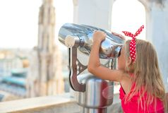 Adorable little girl on the rooftop of Duomo, Stock Photos