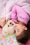 Adorable little girl sleep Stock Image