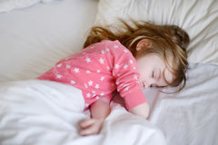 Adorable little girl sleeping Stock Photography