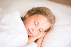 Adorable little girl sleeping Royalty Free Stock Image