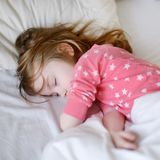 Adorable little girl sleeping Royalty Free Stock Photo