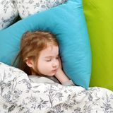 Adorable little girl sleeping Stock Photos