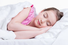 Adorable little girl sleeps. Royalty Free Stock Photo