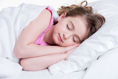 Adorable little girl sleeps. Royalty Free Stock Photography