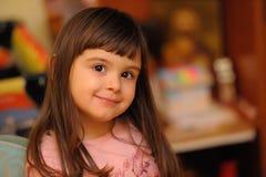 Adorable little girl smiling Royalty Free Stock Photos