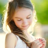 Adorable little girl on summer day Royalty Free Stock Photos