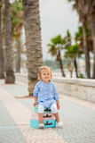 Adorable little girl on a summer vacation Stock Image