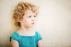 Adorable little girl taken closeup outdoor Stock Images