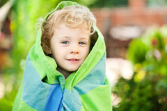 Adorable little girl taken closeup outdoors Stock Images