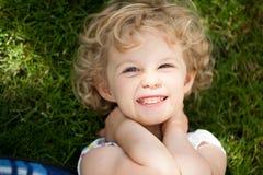 Adorable little girl taken closeup outdoors Royalty Free Stock Photos