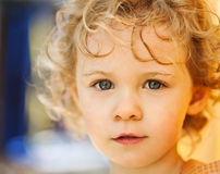 Adorable little girl taken closeup outdoors Stock Image