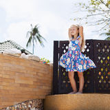 Adorable little girl at tropical  beach Stock Image