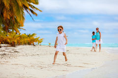 Adorable little girl on vacation Stock Photos