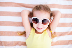 Adorable little girl on vacation Stock Photo